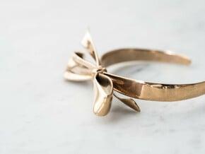 Ribbon Bracelet in Polished Bronze