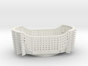 Scat Tub HO scale in White Natural Versatile Plastic