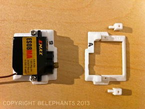 ES08xx Servo Frameset (Left & Right) in White Natural Versatile Plastic