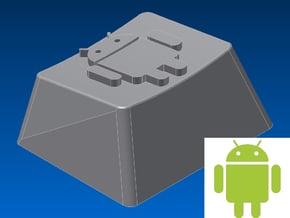 Android Keycap (R1, 1.25x) in White Natural Versatile Plastic