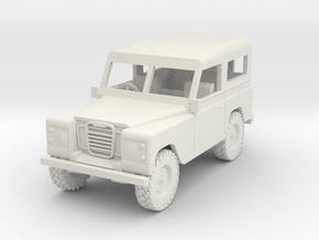 1/72 1:72 Scale Land Rover Hard Top Back  Wheel in White Natural Versatile Plastic
