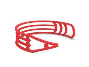 """Bracelet """"Pencil"""" in Red Processed Versatile Plastic"""