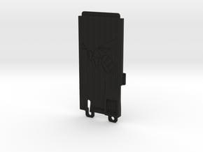 045006-02 Ampro Battery Door, Hornet Logo in Black Natural Versatile Plastic