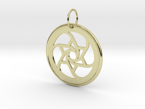 Spiral Star Pendant in 18k Gold Plated Brass