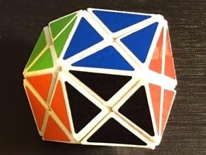 Mini Rhombiminx in White Natural Versatile Plastic