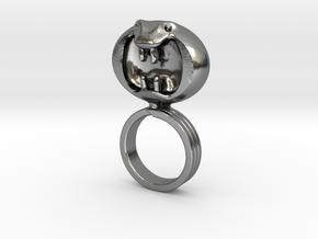 Dark Helmet's ring from Spaceballs Schwartz in Polished Silver