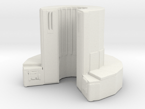 1/72 Scale Supercomputer in White Natural Versatile Plastic