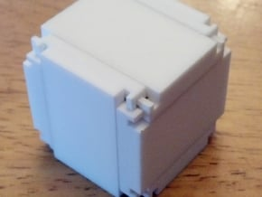 Stickman Snowflake (1.6 inches) in White Natural Versatile Plastic