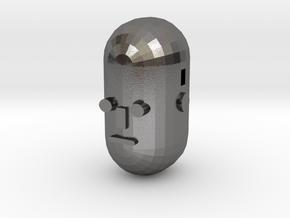Ballet Face v01 in Polished Nickel Steel