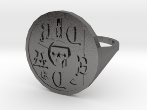 Signet Dread v01 S in Polished Nickel Steel