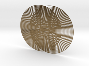 Moire pattern in Natural Bronze