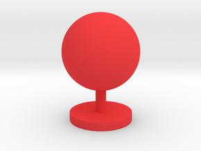 Game Piece, Moon in Red Processed Versatile Plastic