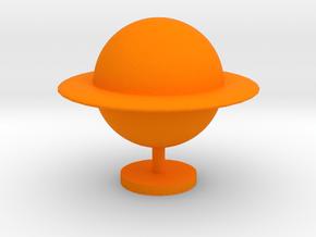Game Piece, Ringed Planet in Orange Processed Versatile Plastic