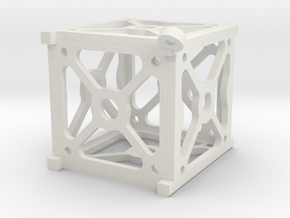 Cubesat Pendant in White Natural Versatile Plastic
