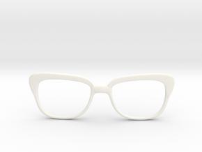 Optoid Hybrid MkXI: Custom Fit Rx Eyewear in White Processed Versatile Plastic