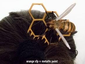Honey Comb 1, plastic in Orange Processed Versatile Plastic