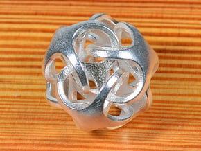 Metatrino Pendant in Natural Silver