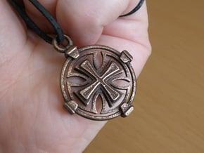 Knights Templar Crest in Polished Bronze Steel
