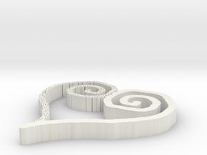 heart3 in White Natural Versatile Plastic