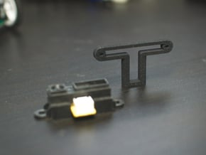 Sharp IR Distance Sensor PCB Mount - GP2Y0A21YK  in Black Natural Versatile Plastic