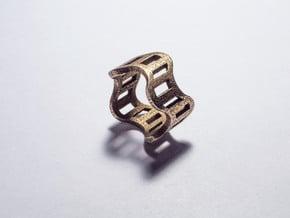 Wonderfilm Ring in Polished Bronzed Silver Steel: 8.5 / 58