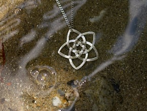 Venus flower small in Natural Silver