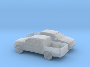 1/160 2X 2005-14 Toyota Hilux in Smooth Fine Detail Plastic