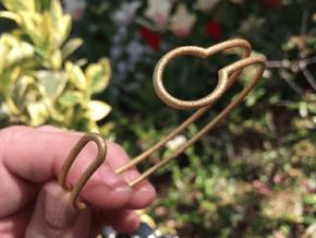 Witness Bracelet in Polished Gold Steel: Medium