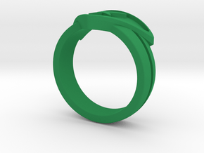 Power Ring Double Banded Sz 8 in Green Processed Versatile Plastic