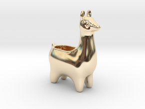 Llama Planters - Small in 14K Yellow Gold