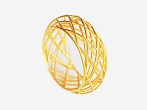 Circle Bracelet Bold in Polished Bronze Steel