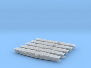 1/1800 IJN CV Bundle Akagi(x2) + Kaga(x3) in Smooth Fine Detail Plastic