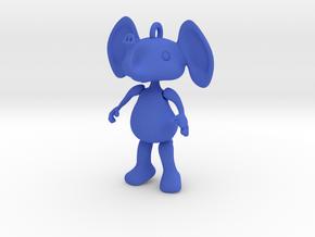 Dangly Elephant in Blue Processed Versatile Plastic
