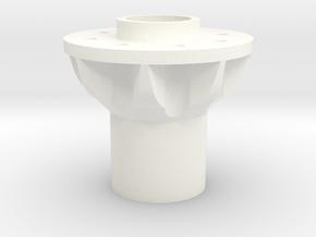 Alcoa 1.9 24mm wide 8 lug front hex hub in White Processed Versatile Plastic