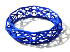 Bracelet Constructionist Sleek size L in Purple Processed Versatile Plastic