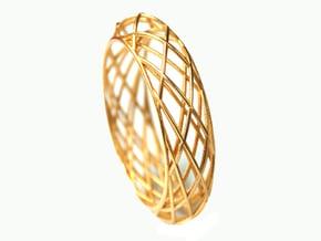 Bracelet Circles Sleek (size M) in Polished Gold Steel