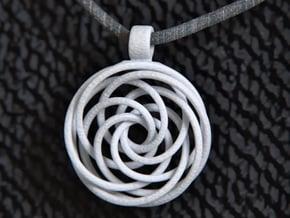 Vortex Pendant (Small) in White Processed Versatile Plastic