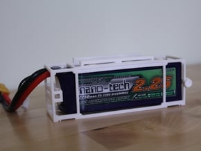 Turnigy Nanotech 2250 Battery Cage in White Natural Versatile Plastic