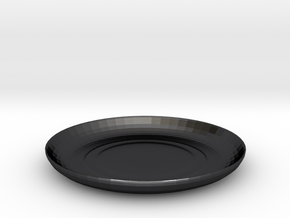 Shibori Maki Plate in Polished and Bronzed Black Steel