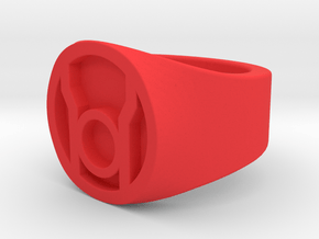 Red Lantern Ring Size 11 in Red Processed Versatile Plastic