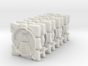 8x Fantasy Football Frog Marker in White Natural Versatile Plastic