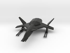 Raptor Space Fighter in Black Natural Versatile Plastic