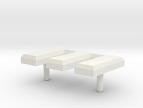 R82.100.CharacterM.ascii in White Natural Versatile Plastic