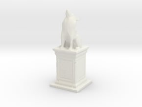 Wolf Statue in White Natural Versatile Plastic