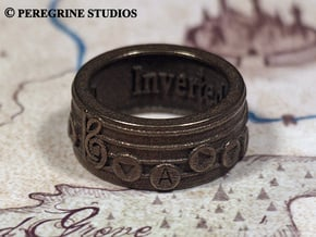Ring - Inverted Song of Time in Polished Bronzed Silver Steel: 13 / 69