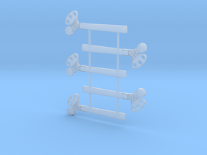 O Scale 3Pos. TO Semaphore Square in Smooth Fine Detail Plastic