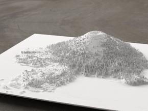 8'' Wizard Island, Oregon, USA in White Natural Versatile Plastic