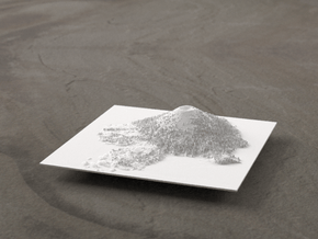 4'' Wizard Island, Oregon, USA in White Natural Versatile Plastic