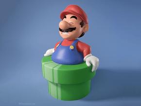 Fat Mario in Full Color Sandstone
