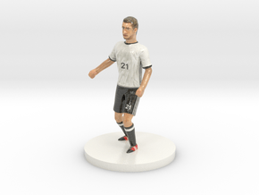 German Football Player in Glossy Full Color Sandstone